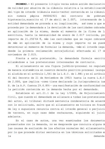 Sentencia Procedimiento Ordinario 213/2017
