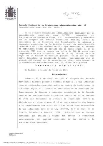 LA AUDIENCIA NACIONAL ANULA SENTENCIA A LA AGENCIA TRIBUTARIA POR NO HABER REQUERIDO PREVIAMENTE-1