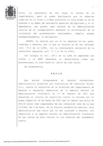 LA AUDIENCIA NACIONAL ANULA SENTENCIA A LA AGENCIA TRIBUTARIA POR NO HABER REQUERIDO PREVIAMENTE-8
